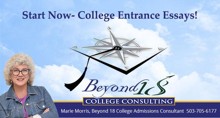 Start Now- College Entrance Essays!