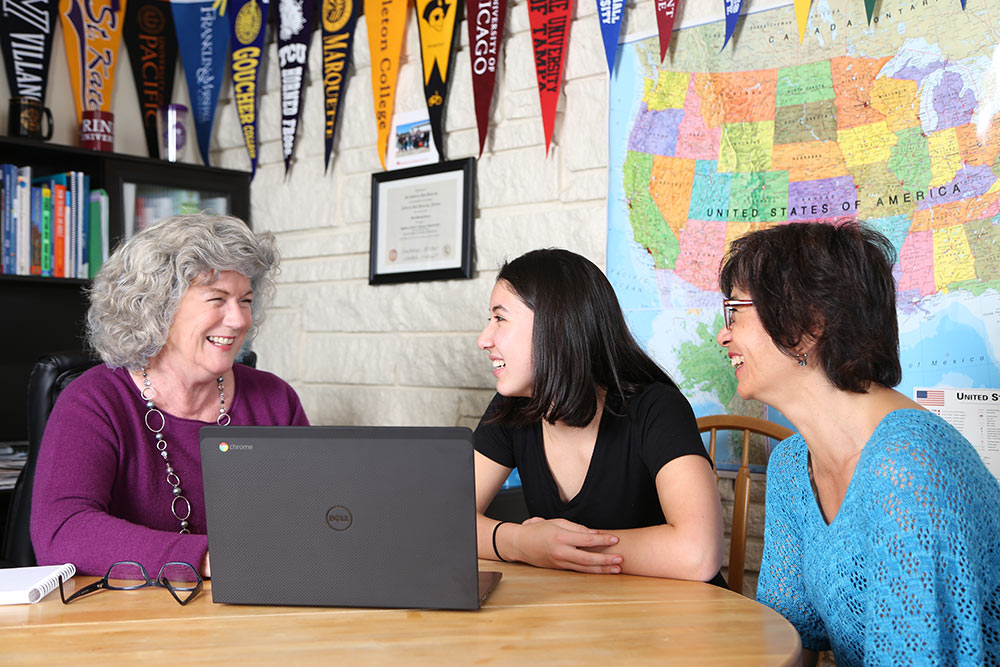 Marie Consulting with Students